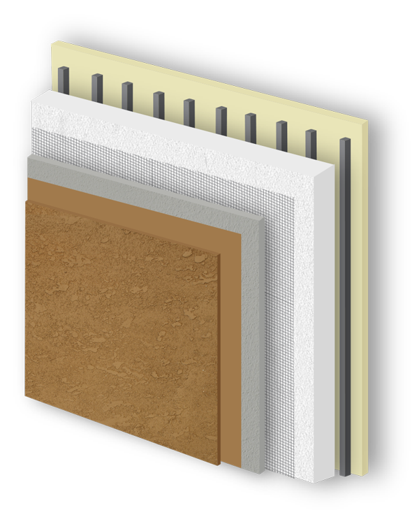 EIFS Image - AkroFlex Barrier System Cutaway